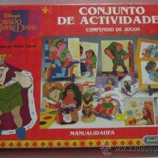 Giochi da tavolo: CONJUNTO DE ACTIVIDADES, DE EL JOROBADO DE NOTRE DAME, DE MEDITERRANEO, EN CAJA. ( VER ) CC . Lote 34209807