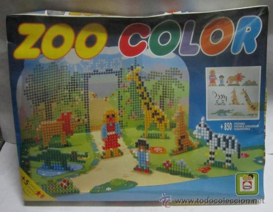 ZOO COLOR, DE CHICOS, MAS DE 850 FICHAS, EN CAJA. CC (Juguetes - Juegos - Juegos de Mesa)