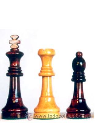 Juegos de mesa: Juego de piezas de ajedrez de madera de boj Staunton FS-5. Color natural y teñido caoba oscuro - Foto 2 - 34477776