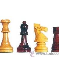 Juegos de mesa: CHESS. JUEGO DE PIEZAS DE AJEDREZ DE MADERA DE BOJ STAUNTON FS-4 COLOR NATURAL Y TEÑIDO CAOBA OSCURO. Lote 34477863