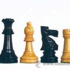 Juegos de mesa: JUEGO DE PIEZAS DE AJEDREZ DE MADERA DE BOJ STAUNTON FS-6. COLOR NATURAL Y TEÑIDO NEGRO. Lote 63348172