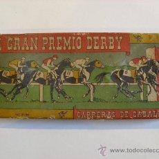Juegos de mesa: EL GRAN PREMIO DERBY. CARRERAS DE CABALLOS. AÑOS 30/40. UN DADO Y 5 CABALLOS DE PLOMO.. Lote 34546939