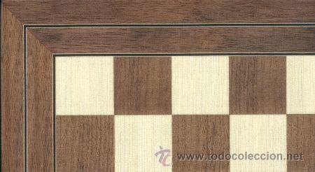 TABLERO NOGAL DE AJEDREZ DE MADERA TN-3 ACABADO MATE 50X500X15 MM. (Juguetes - Juegos - Juegos de Mesa)
