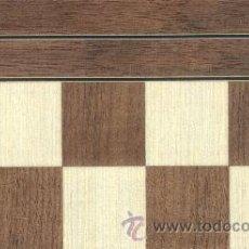 Juegos de mesa: TABLERO NOGAL DE AJEDREZ DE MADERA TN-2 ACABADO MATE 45X450X15 MM.. Lote 34589016