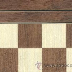 Juegos de mesa: TABLERO NOGAL DE AJEDREZ DE MADERA TN-1 ACABADO MATE 40X400X15 MM.. Lote 45521524