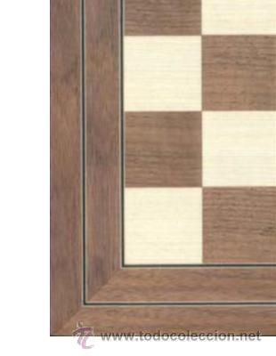 Juegos de mesa: Tablero nogal de ajedrez de madera TN-1 acabado mate 40x400x15 mm. - Foto 2 - 45521524