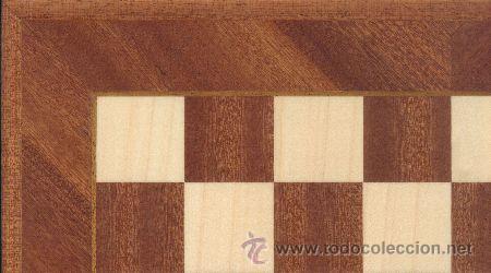TABLERO DIAGONAL SAPELLI DE AJEDREZ DE MADERA TDS-1 ACABADO MATE 40X400X15 MM. (Juguetes - Juegos - Juegos de Mesa)