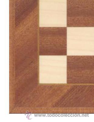 Juegos de mesa: Tablero diagonal sapelli de ajedrez de madera TDS-1 acabado mate 40x400x15 mm. - Foto 2 - 170388133