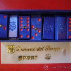 Juegos de mesa: JUEGO DE DOMINO BARÇA FC BARCELONA GRABADO ESCUDO FUTBOL CLUB BARCELONA. Lote 46247327