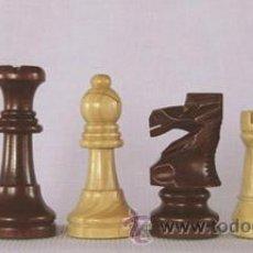 Juegos de mesa: JUEGO DE PIEZAS DE AJEDREZ DE MADERA DE BOJ STAUNTON FS-4-PUL. COLOR NATURAL Y TEÑIDO CAOBA OSCURO. Lote 34594349