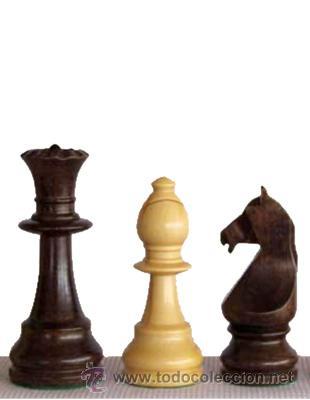 Juegos de mesa: Chess. Juego de piezas de ajedrez de madera de boj Staunton Europa FSE-6 Colo natural y teñido nogal - Foto 2 - 67224082