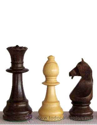 Juegos de mesa: Juego de piezas de ajedrez de madera de boj Staunton Europa FSE-5. Color natural y teñido nogal - Foto 2 - 34594897
