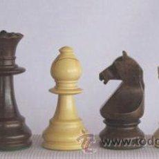 Juegos de mesa: JUEGO DE PIEZAS DE AJEDREZ DE MADERA DE BOJ STAUNTON EUROPA FSE-3. COLOR NATURAL Y TEÑIDO NOGAL. Lote 34594932