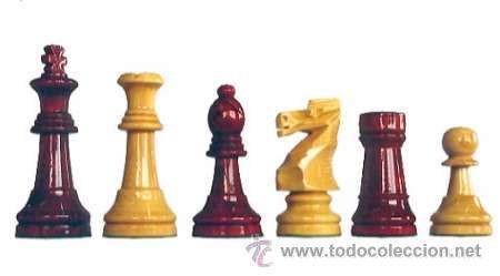 JUEGO DE PIEZAS DE AJEDREZ DE MADERA DE BOJ STAUNTON FS-6/E-AR. COLOR NATURAL Y TEÑIDO CAOBA CLARO (Juguetes - Juegos - Juegos de Mesa)