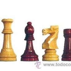 Juegos de mesa: JUEGO DE PIEZAS DE AJEDREZ DE MADERA DE BOJ STAUNTON FS-6/E-AR. COLOR NATURAL Y TEÑIDO CAOBA CLARO. Lote 34601601