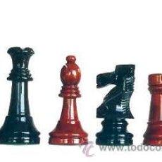 Juegos de mesa: JUEGO DE PIEZAS DE AJEDREZ DE MADERA DE BOJ STAUNTON FS-6/E-RN. COLOR CAOBA CLARO Y NEGRO. Lote 70580978