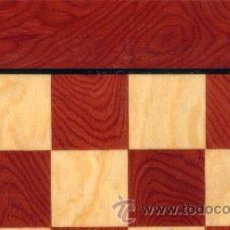 Juegos de mesa: CHESS. TABLERO AMARILLO ROJO DE AJEDREZ DE MADERA TAR-1 ACABADO SATINADO 40X400X15 MM.. Lote 34636607