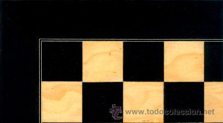 TABLERO AMARILLO NEGRO DE AJEDREZ DE MADERA TAN-1 ACABADO SATINADO 40X400X15 MM. (Juguetes - Juegos - Juegos de Mesa)