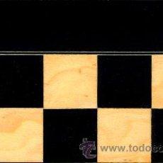 Juegos de mesa: TABLERO AMARILLO NEGRO DE AJEDREZ DE MADERA TAN-1 ACABADO SATINADO 40X400X15 MM.. Lote 34637098