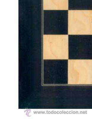 Juegos de mesa: Tablero amarillo negro de ajedrez de madera TAN-1 acabado satinado 40x400x15 mm. - Foto 2 - 34637098