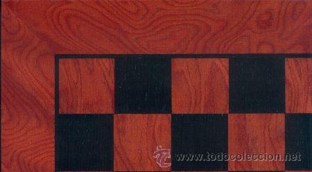 TABLERO ROJO NEGRO DE AJEDREZ DE MADERA TRN-1 ACABADO SATINADO 40X400X15 MM. (Juguetes - Juegos - Juegos de Mesa)