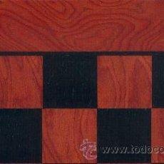 Juegos de mesa: TABLERO ROJO NEGRO DE AJEDREZ DE MADERA TRN-1 ACABADO SATINADO 40X400X15 MM.. Lote 34637204