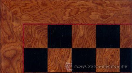 TABLERO MIEL NEGRO DE AJEDREZ DE MADERA TMN-3 ACABADO SATINADO 50X500X15 MM. (Juguetes - Juegos - Juegos de Mesa)