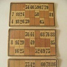 Juegos de mesa: SEIS CARTONES ANTIGUOS DE UN JUEGO DE LOTERÍA, DE 17 X 10 CETÍMETROS. AÑO 1913.. Lote 34659650