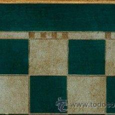 Juegos de mesa: TABLERO DE AJEDREZ DE MADERA POLICROMADO VERDE PLATA TPOL-50V ENVEJECIDO 50X500X15 MM.. Lote 34680223