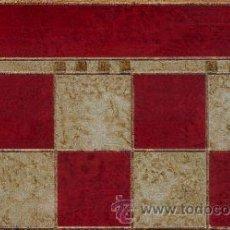 Juegos de mesa: TABLERO DE AJEDREZ DE MADERA POLICROMADO ROJO PLATA TPOL-50R ENVEJECIDO 50X500X15 MM.. Lote 34683044