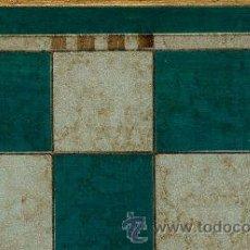 Juegos de mesa: TABLERO DE AJEDREZ DE MADERA POLICROMADO VERDE PLATA TPOL-44V ENVEJECIDO 50X440X15 MM.. Lote 34683097