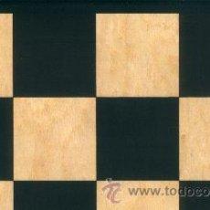 Juegos de mesa: TABLERO DE AJEDREZ DE MADERA, CHAPA DE ERABLE,NEGRO SERIGRAFIADO TNS-48E ACABADO MATE 48X400X12 MM.. Lote 34686960