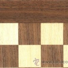 Juegos de mesa: TABLERO NOGAL ERABLE DE AJEDREZ DE MADERA TN-40E ACABADO MATE 40X400X15 MM.. Lote 34689675