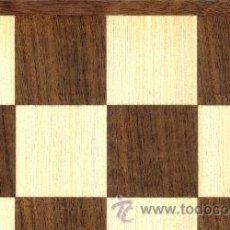 Juegos de mesa: TABLERO NOGAL ERABLE DE AJEDREZ DE MADERA TN-48E ACABADO MATE 48X400X12 MM.. Lote 40086240