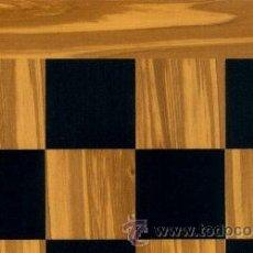 Juegos de mesa: TABLERO OLIVO NEGRO DE AJEDREZ DE MADERA TOL-43E ACABADO SATINADO 43X400X15 MM.. Lote 34690623