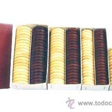 Juegos de mesa: FICHAS DE DAMAS DE MADERA DE ACEBO PULIMENTADAS FAD-60 NATURAL/CAOBA 24X6 MM. CON 24 FICHAS. Lote 34752790