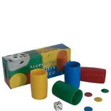 Juegos de mesa: ACCESORIOS PARCHÍS DE PLÁSTICO 73/3. 4 COLORES. Lote 261548025