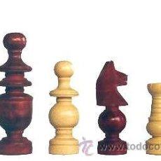 Juegos de mesa: JUEGO DE PIEZAS DE AJEDREZ DE MADERA DE BOJ FRANCÉS O CORRIENTE FC-2. COLOR NATURAL Y TEÑIDO CAOBA. Lote 41036470