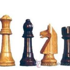 Juegos de mesa: JUEGO DE PIEZAS DE AJEDREZ DE MADERA DE ENCINA GRANDE FD-11 BARNIZADAS. Lote 34916688