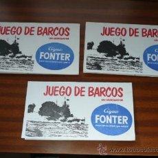 Juegos de mesa: JUEGO DE BARCOS AGUA FONTER 1980. Lote 35236827