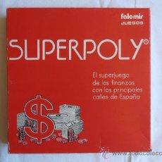 Juegos de mesa: JUEGO DE MESA SUPERPOLY FALOMIR JUEGOS COMPLETO CAJA ROJA. Lote 66862223