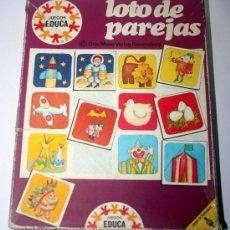 Juegos de mesa: JUEGO INFANTIL DE LA SERIE EDUCA , HACER PAREJAS - AÑOS 70. Lote 35349610