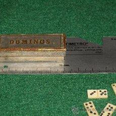 Juegos de mesa: PEQUEÑO DOMINO DE COLECCION - 5 - HUESO. Lote 35474624
