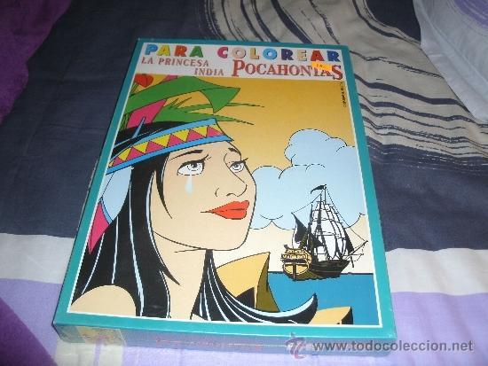 Juego De Mesa Pocahontas Para Colorear Falomir Nuevo Y Precintado Vintage