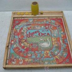 Juegos de mesa: ANTIGUO JUEGO DE MESA DE PARCHÍS Y OCA DE MADERA. Lote 35761552