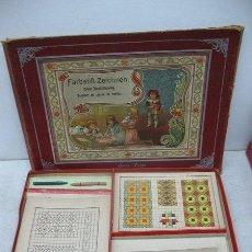 Juegos de mesa: ANTIGUO JUEGO DE MESA ALEMÁN DE 1940 CON LÁMINAS PARA PINTAR FARBSTIFT - ZEICHNEN. Lote 36349051