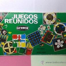 Juegos de mesa: LOTE DE 5 TABLEROS VARIOS Nº 10 JUEGOS REUNIDOS GEYPER. Lote 36427191