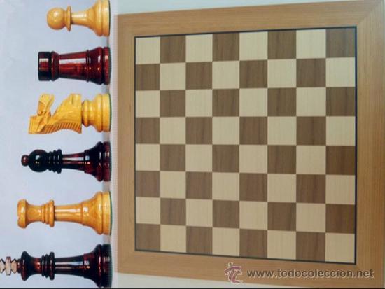 Juegos de mesa: Conjunto de ajedrez de madera J-09.Tablero magnético 50x50 y piezas FS-5 imantadas - Foto 2 - 51677164