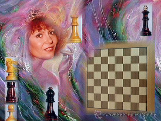Juegos de mesa: Conjunto de ajedrez de madera J-09.Tablero magnético 50x50 y piezas FS-5 imantadas - Foto 3 - 51677164