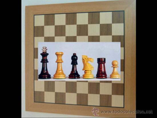 Juegos de mesa: Conjunto de ajedrez de madera J-09.Tablero magnético 50x50 y piezas FS-5 imantadas - Foto 5 - 51677164
